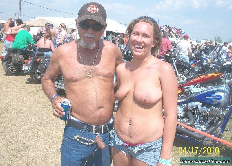 Naked biker rally